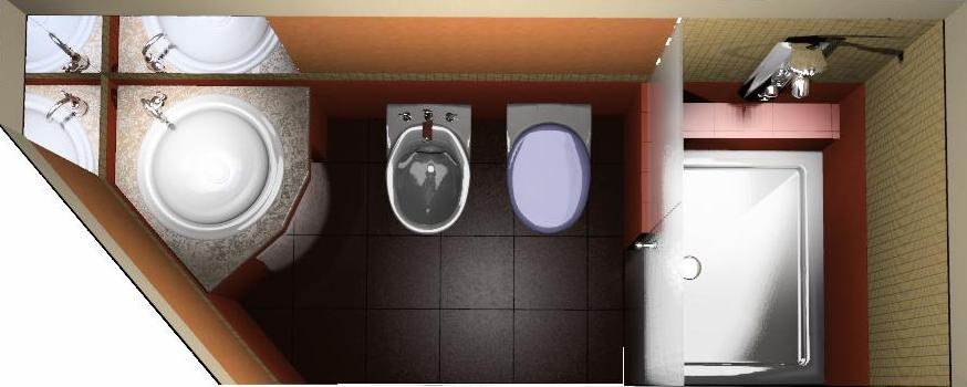bagno in camera misure minime  fatua for ., Disegni interni